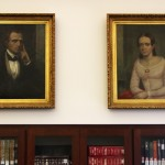Santa Clara Pioneer portraits now hanging in the Heritage Pavilion