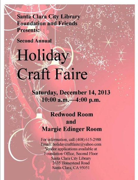Holiday Craft Faire @ Central Library | Santa Clara | California | United States