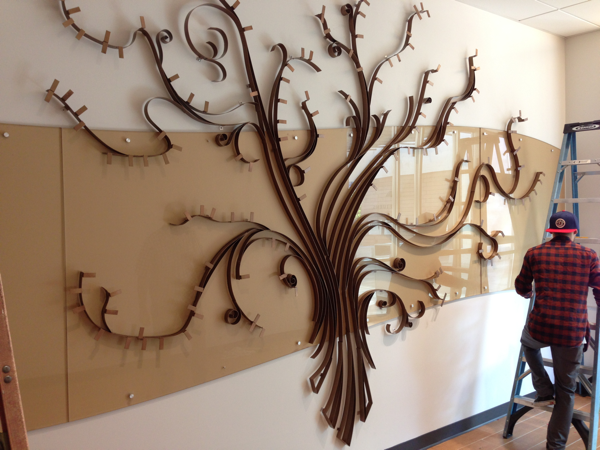 The Donor Tree at the northside library branch