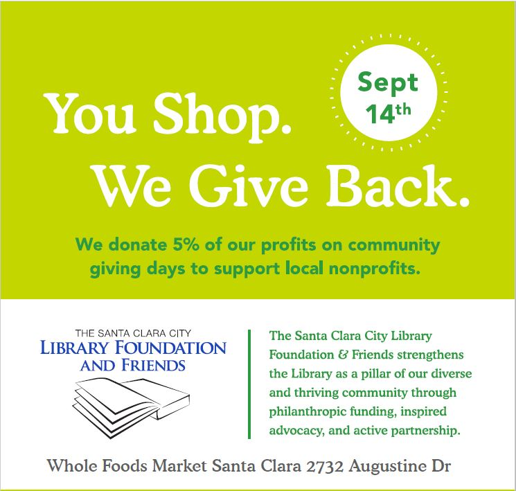 Support SCCLFF by shopping at Whole Foods Market on September 14